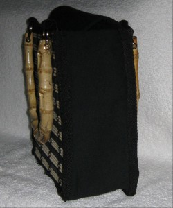 bamboo handled bag side