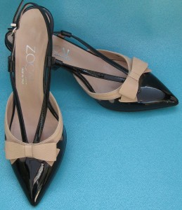 patent bow sling backs