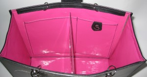 Hot pink vinyl for the interior.