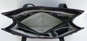proto blk napa purple croc vinyl inside ctr zip pocket